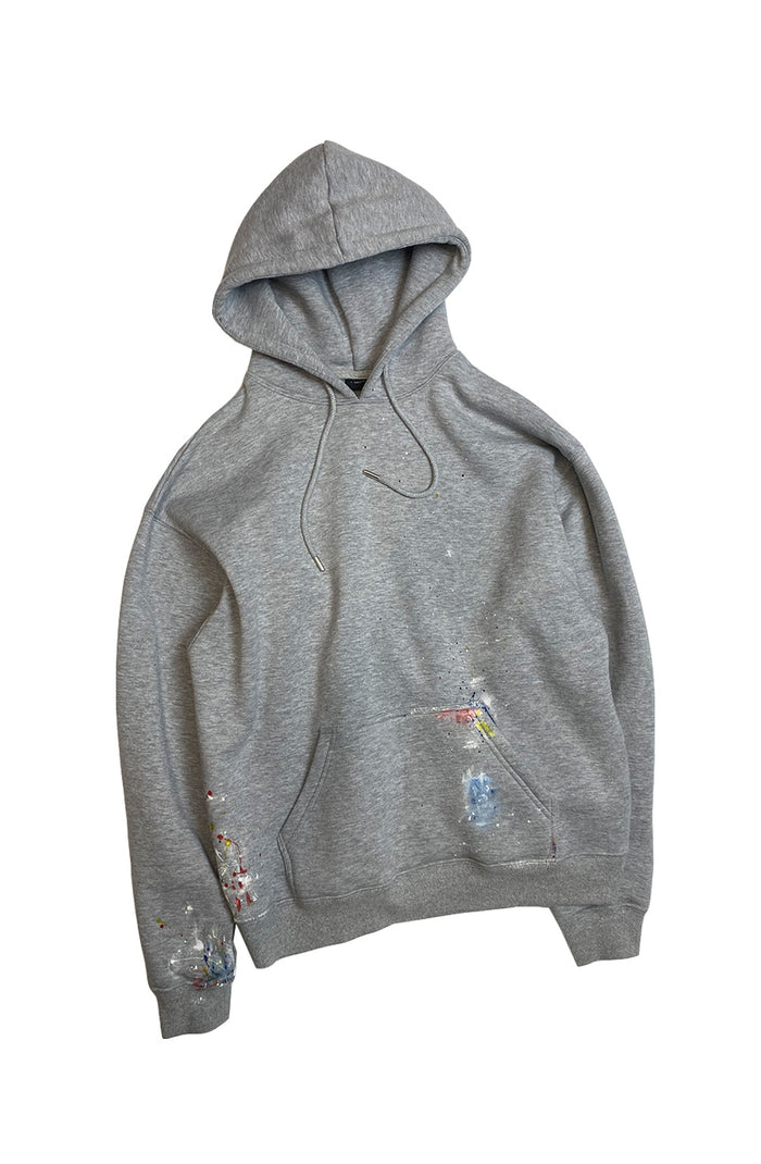 Reworked Painters Hoodie - Grey Small