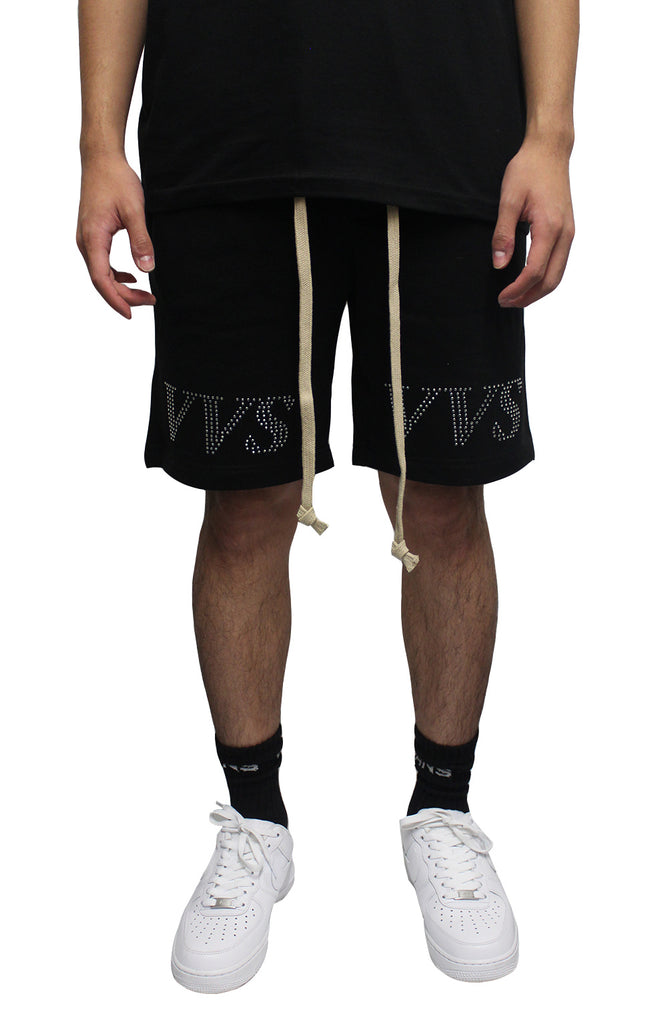 VVS Drawstring Shorts - Black/Beige