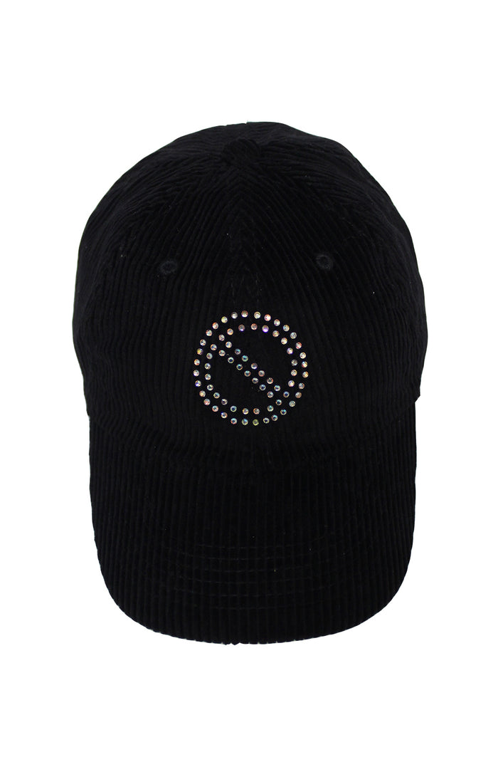 VVS No Entry Corduroy Cap - Black