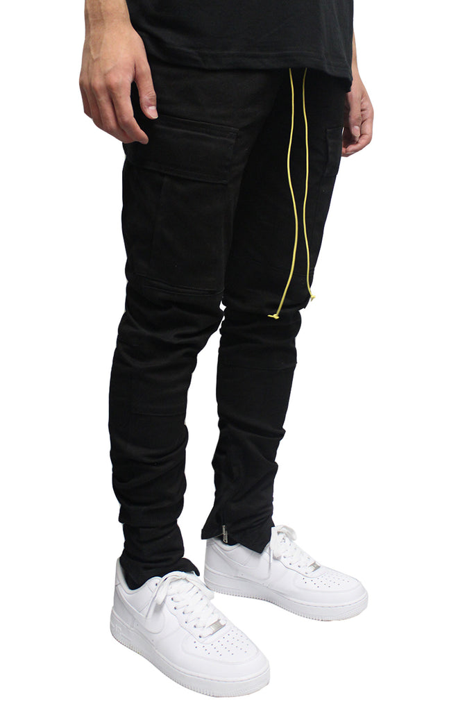 Cargo Pants - Black/Yellow