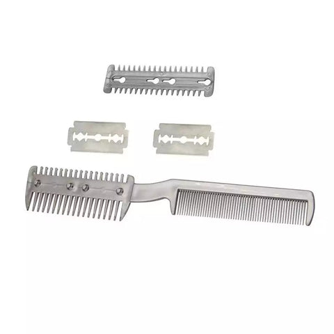 Hair Blade Comb Stainless Steel Blade Hair Remover