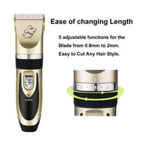 Dog Trimmer - Professional Rechargeable Electrical Pet Trimmer