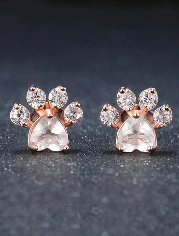 Earings. - Rose Gold Paw Earrings