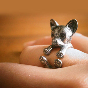 Chihuahua Retro Ring