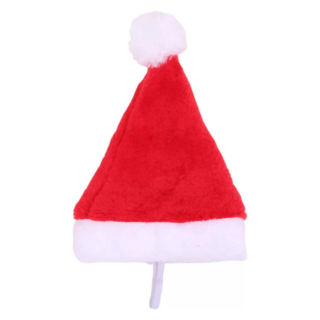 2019 Winter Dog Red Santa Claus Christmas Hat