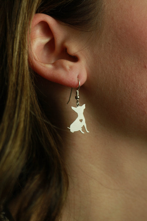 Handmade Chihuahua Earrings