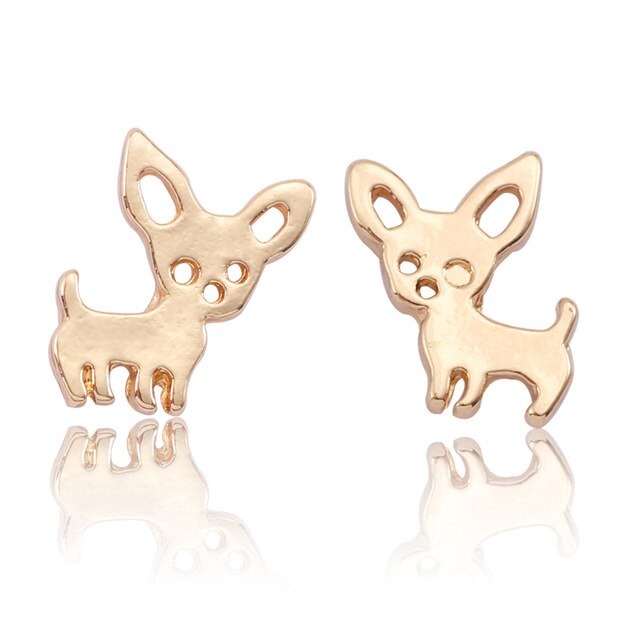 Gold/Rose Gold/Silver Chihuahua Earings