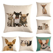 Chihuahua Cotton Pillow