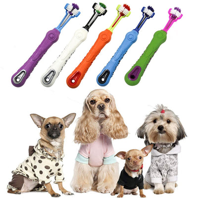 Hot Selling Three Sided Pet Toothbrush