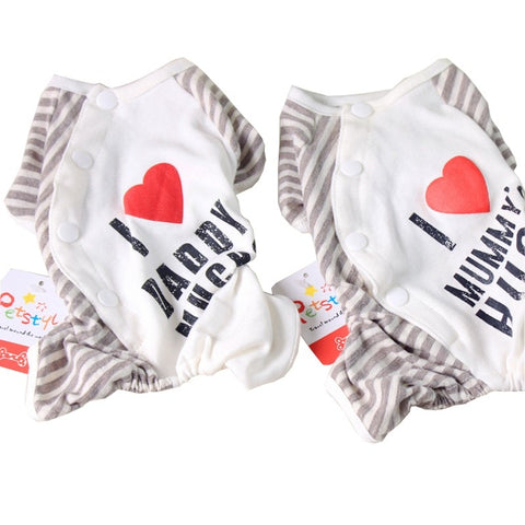 Image of I Love Daddy's Hugs - I Love Mummy's Hugs Pet Pajamas