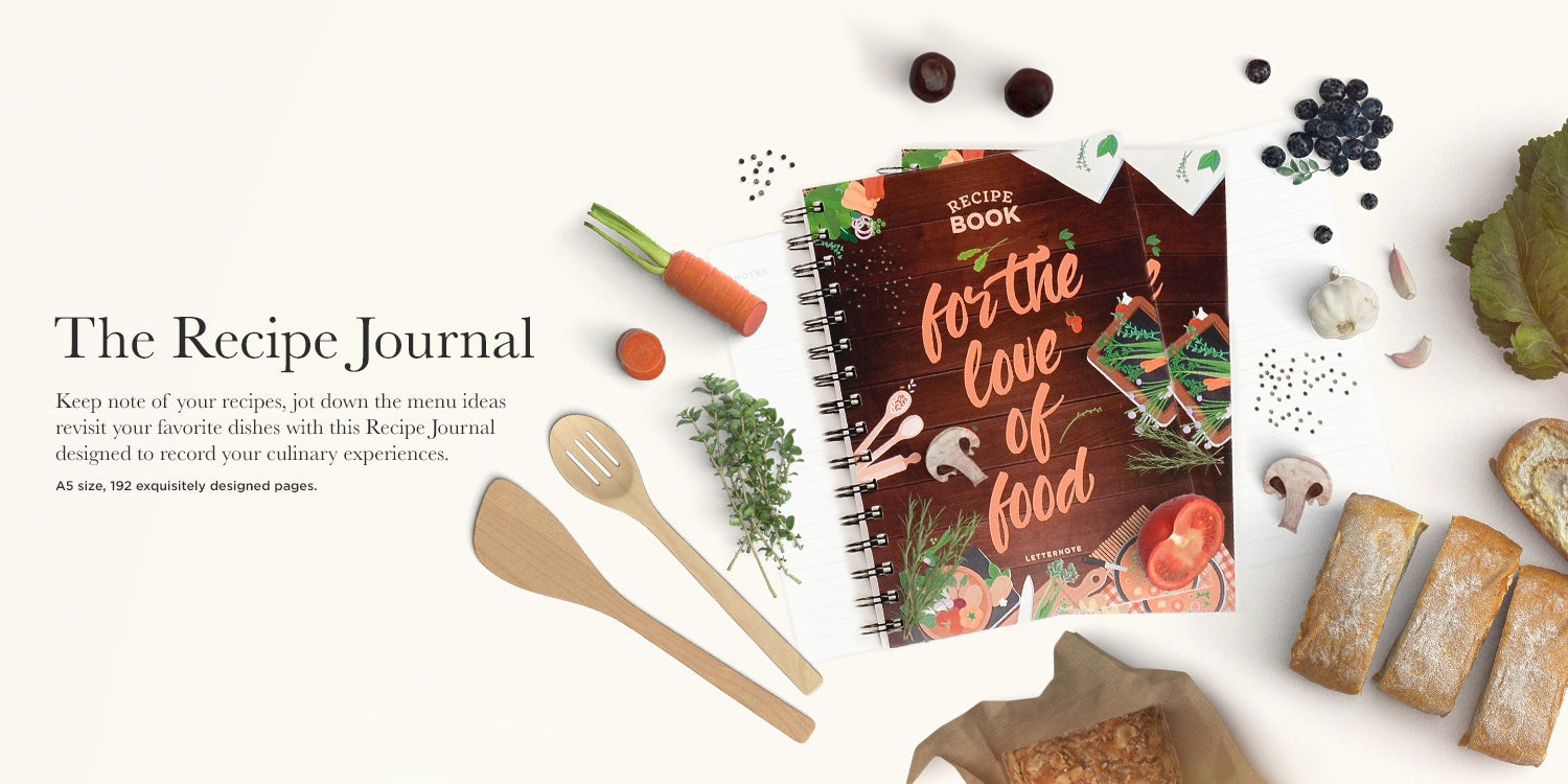 recipe journal letternote