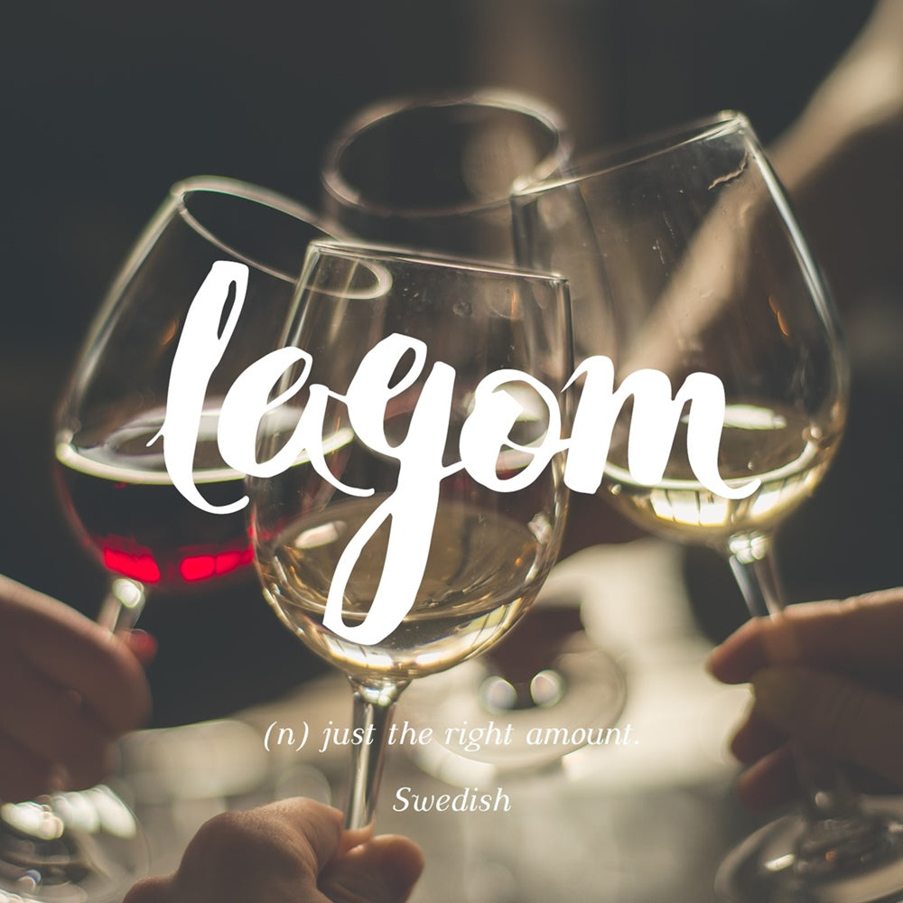 Lagom - Just the right amount, LetterNote Joy of Living