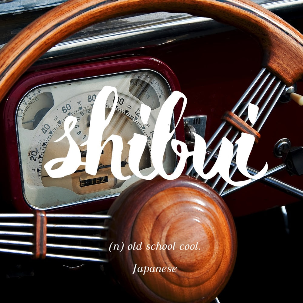 Shibui - Old school cool, LetterNote Joy of Living