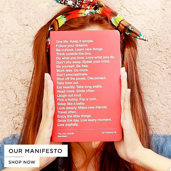 Browse our collection of products powered by the LetterNote Manifesto that keeps inspiring us to work harder and create awesome stuff tailored for the creative people.