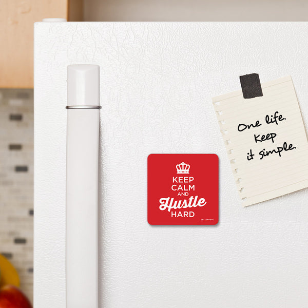 Keep calm and Hustle - Fridge Magnet - LetterNote - 2