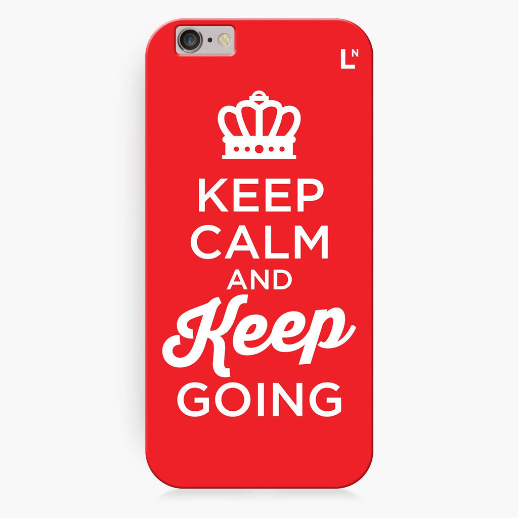 Keep Calm and Keep Going iPhone 8/8 plus Cover
