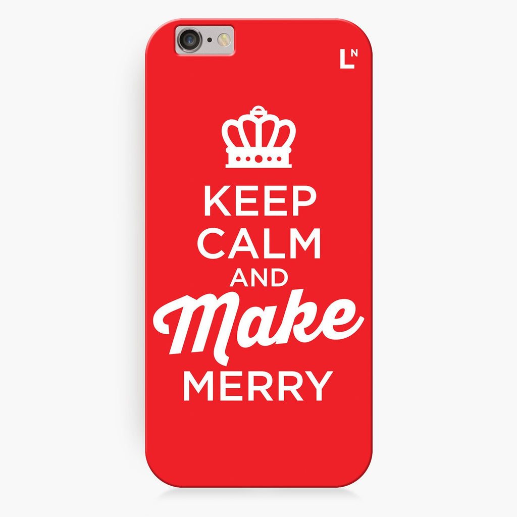 Keep Calm and Make Merry iPhone 8/8 plus Cover