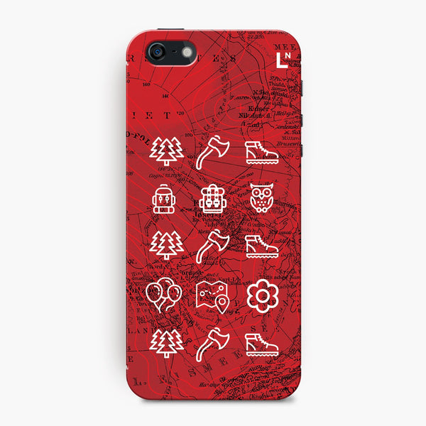 Adventure Icons iPhone 5/5s/5c/SE Cover