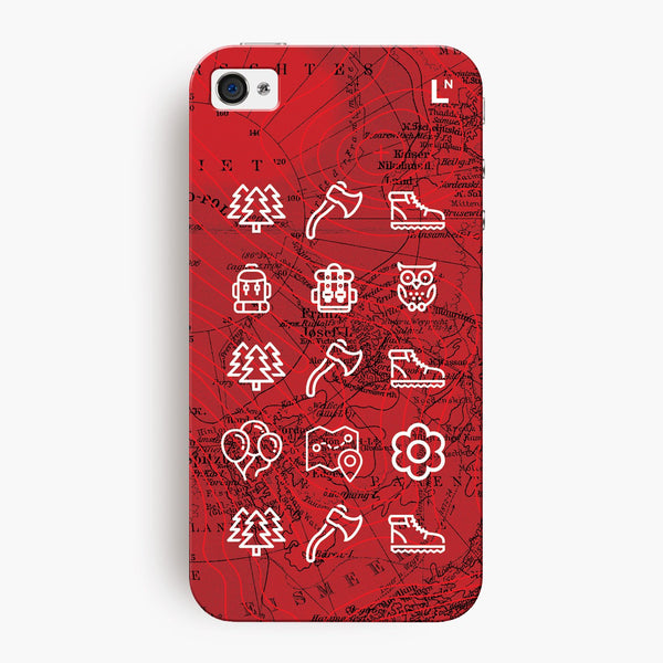 Adventure Icons iPhone 4/4s Cover
