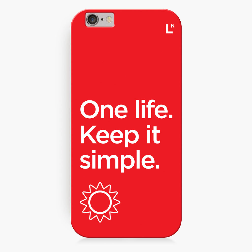 One Life iPhone 6/6S/6 plus/6s plus Cover