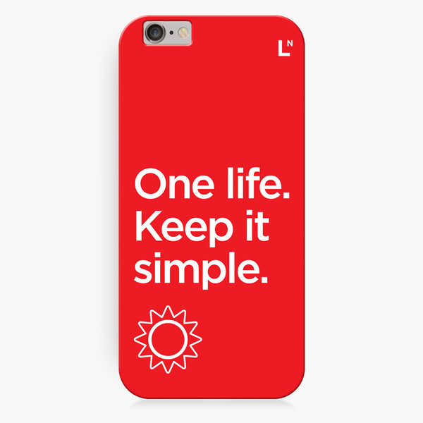 One Life iPhone 7/7 plus Cover