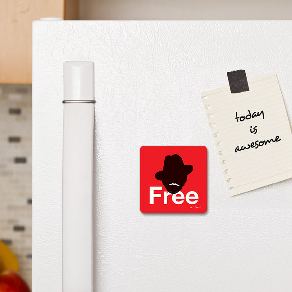 Be free - Fridge Magnet - LetterNote - 2
