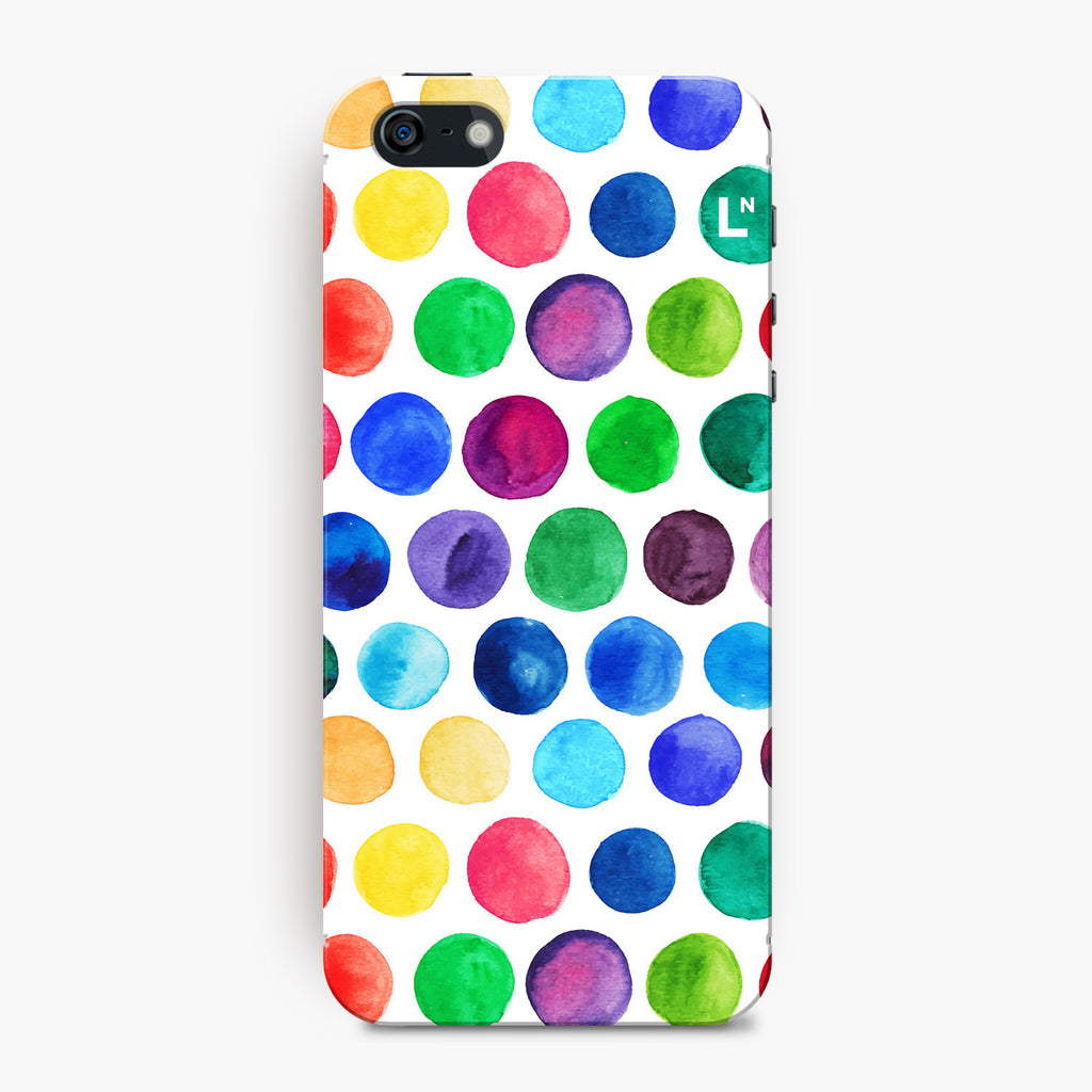 Polka Dots Water Colors iPhone 5/5s/5c/SE Cover