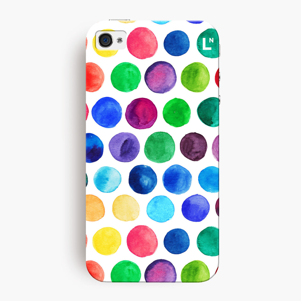 Polka Dots Water Colors iPhone 4/4s Cover