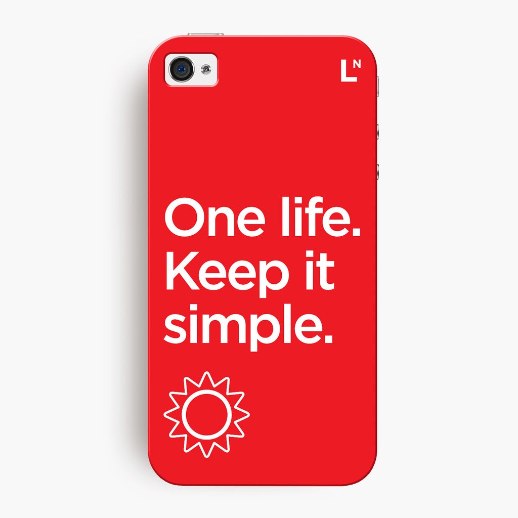 One Life iPhone 4/4s Cover