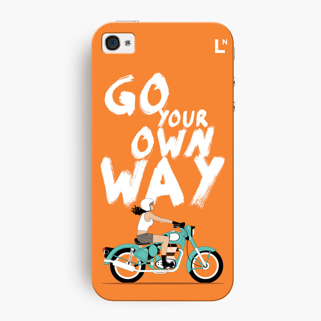 Go Your Own Way iPhone 4/4s Cover