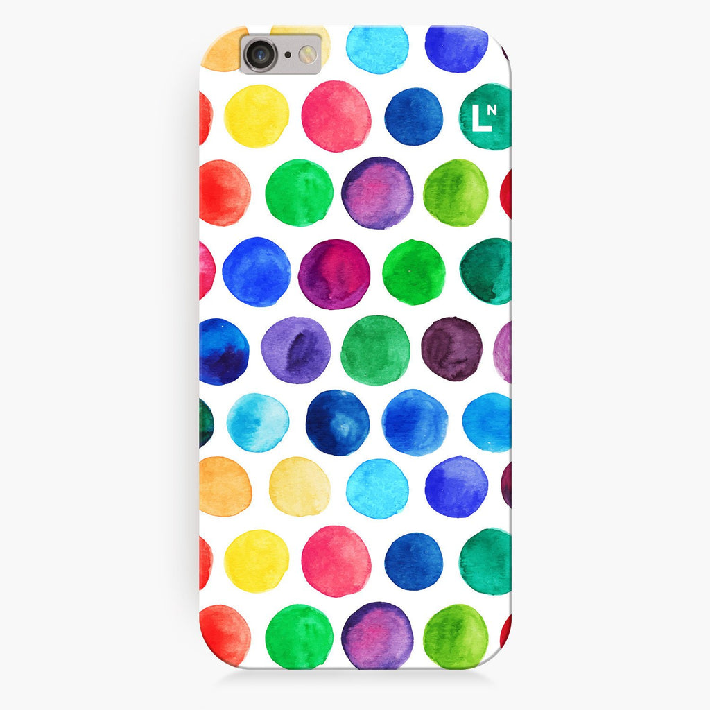 Polka Dots Water Colors iPhone 8/8 plus Cover