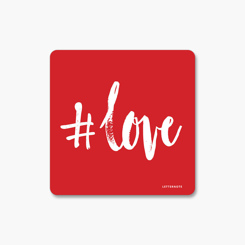 #Love - Fridge Magnet (Set of 2)