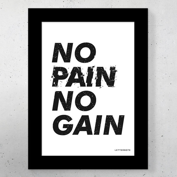 No Pain No Gain Small Frame (5