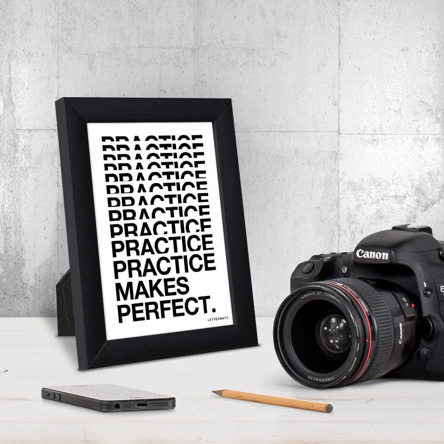 Practice makes perfect Small Frame (5