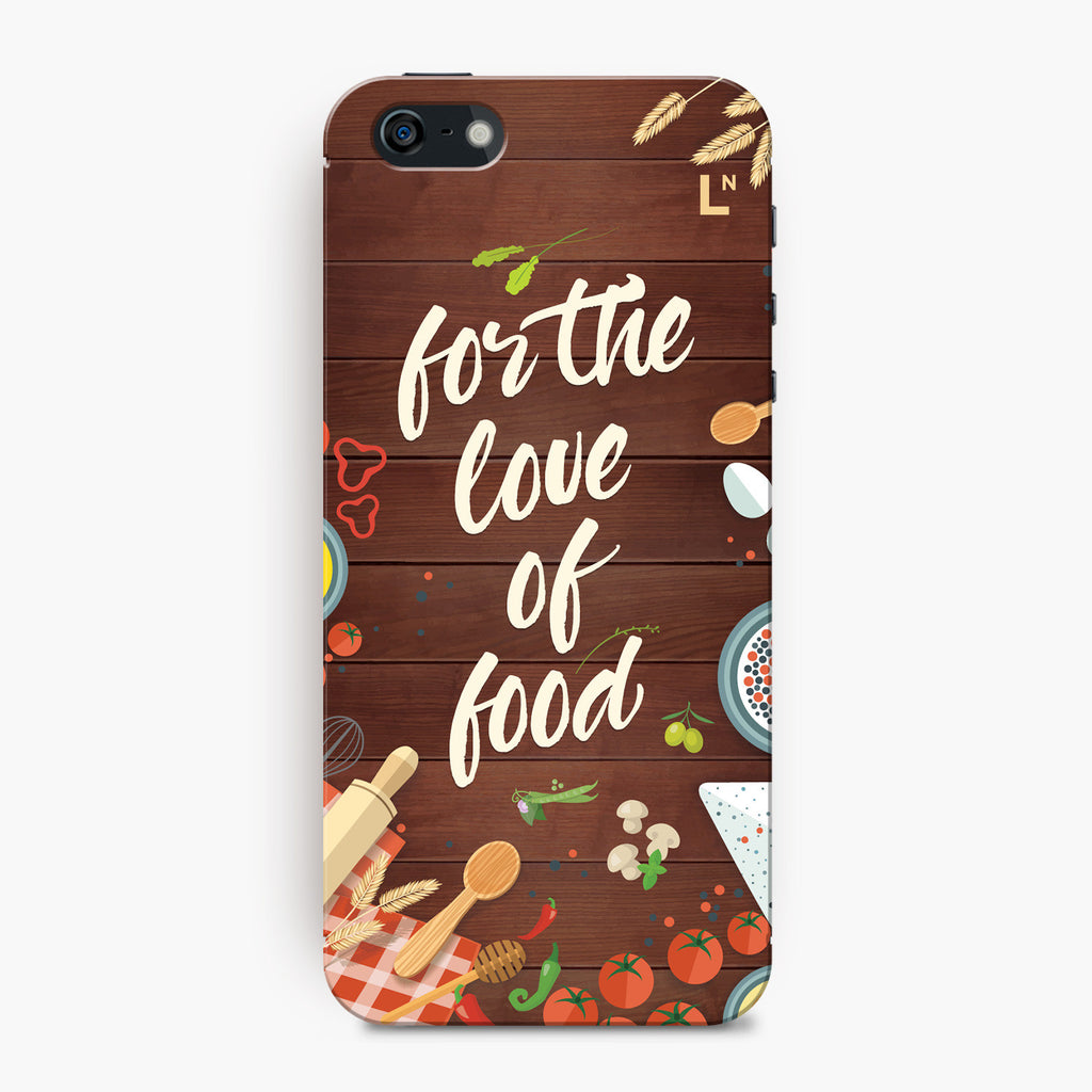 For The Love of Food iPhone 5/5s/5c/SE Cover