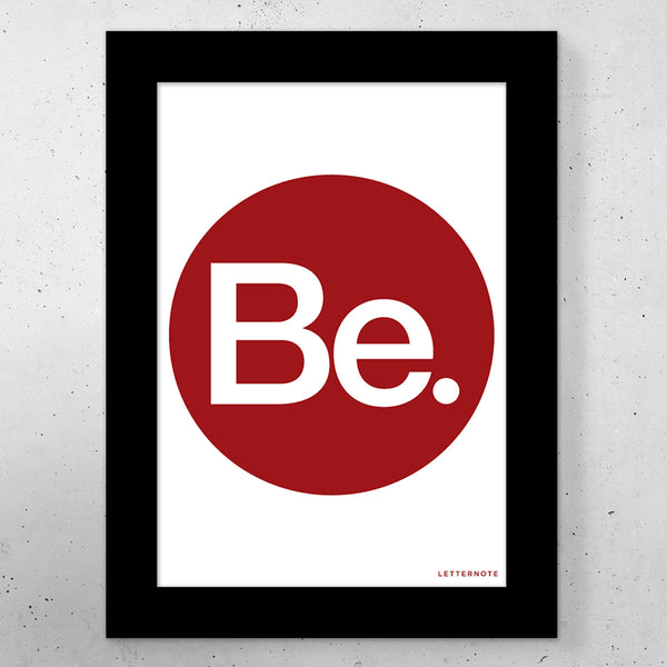 "Be Small Frame (5"" x 7"") - LetterNote - 2"