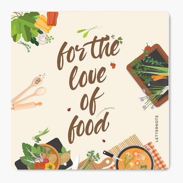 For The Food Of Love MDF Coaster