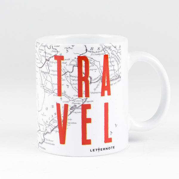 Travel Map Mug - LetterNote - 2