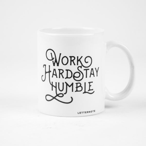 Work Hard Stay Humble Typography Mug - LetterNote - 2
