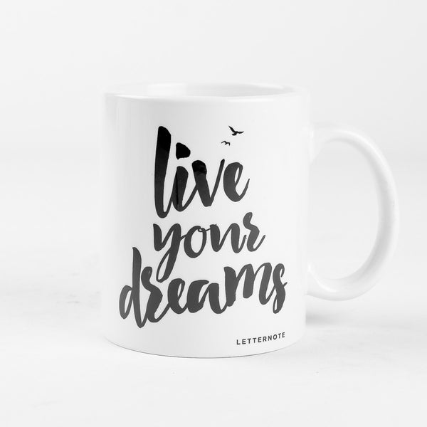 Live Your Dreams Mug - LetterNote - 2