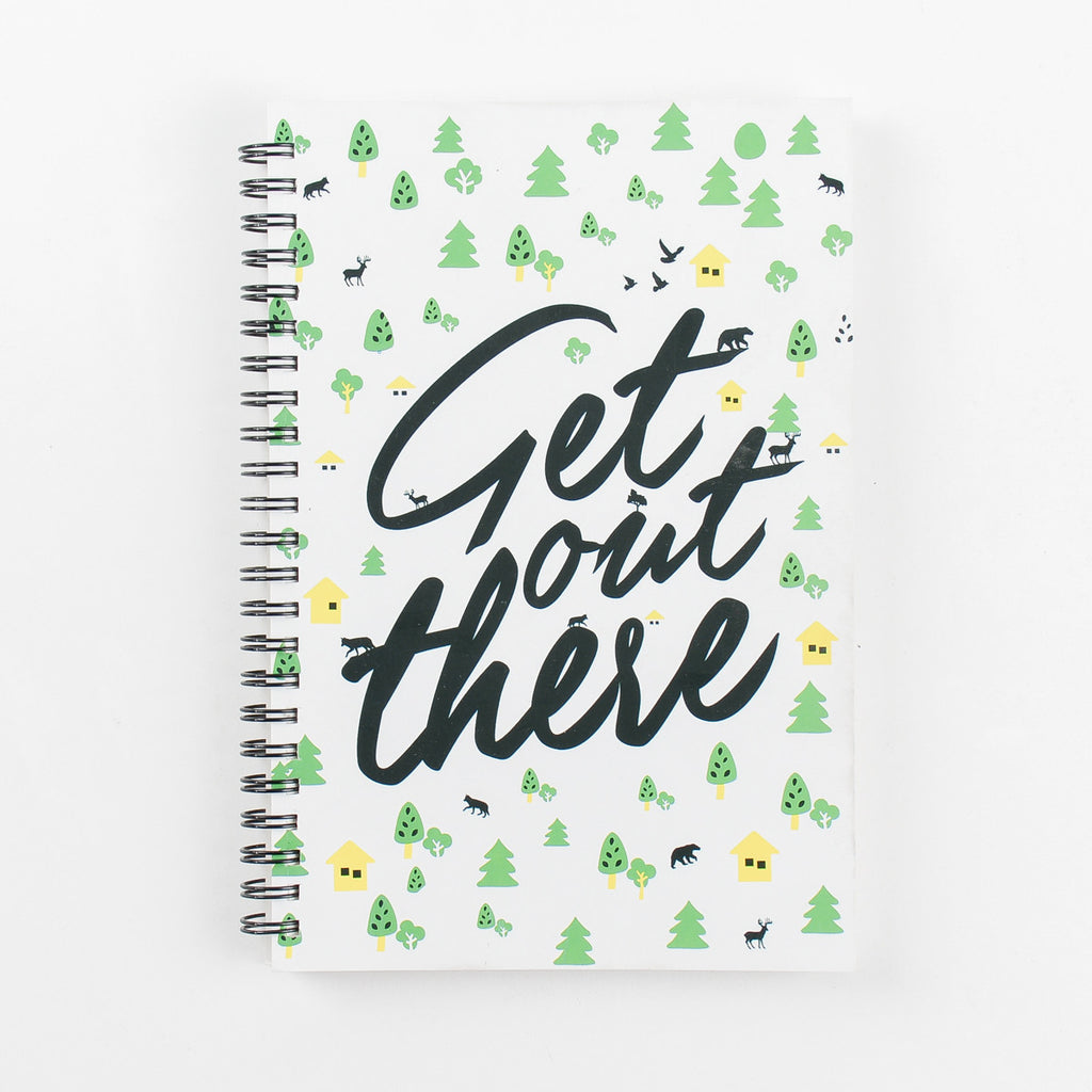 Get Out There Spiral Notebook - Green (Set of 2)