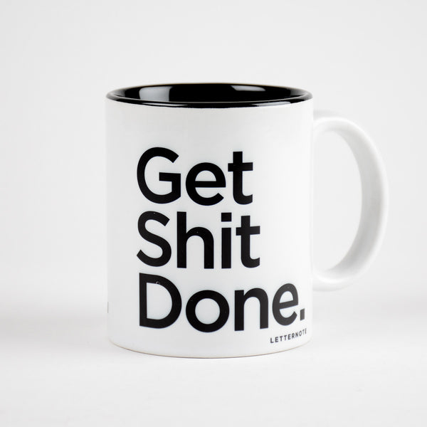Get Shit Done Coffee Mug (Inside Color) - LetterNote - 2