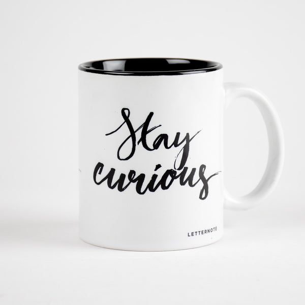 Stay Curious Coffee Mug (Inside Color) - LetterNote - 2