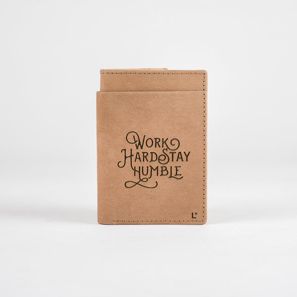 Work Hard Stay Humble Mini Wallet