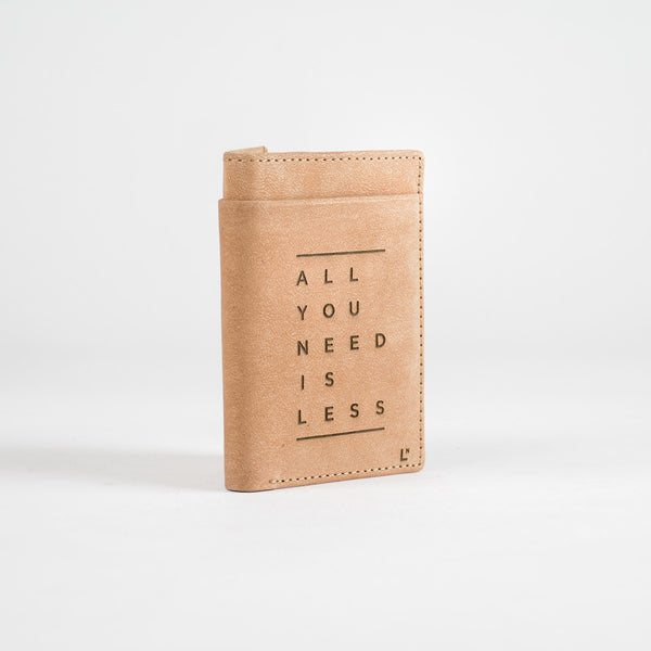 All You Need Is Less Mini Wallet - LetterNote - 2