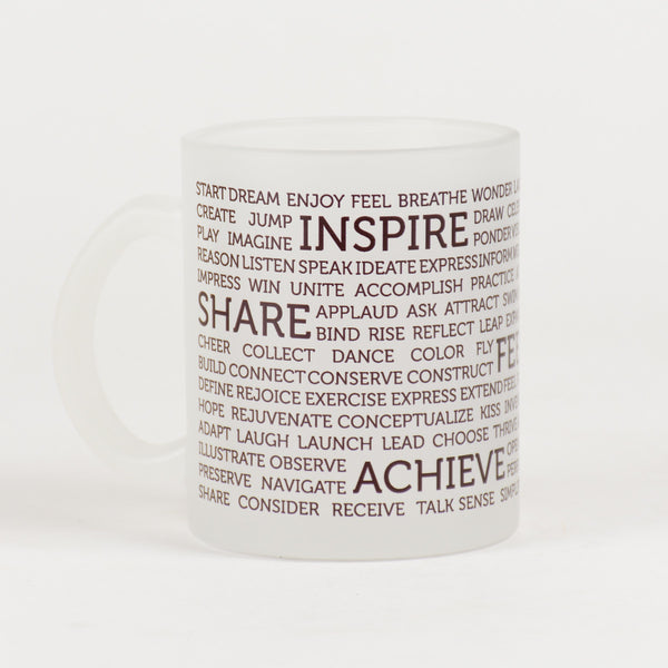 LIFE MANTRAS Frosted Mug