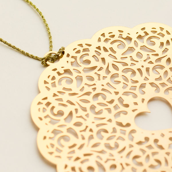 Heart 24K Gold Plated - Metal Bookmark