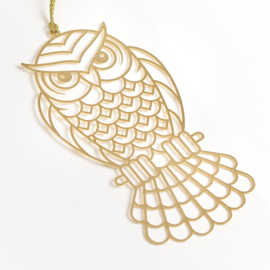 Owl 24K Gold Plated - Metal Bookmark