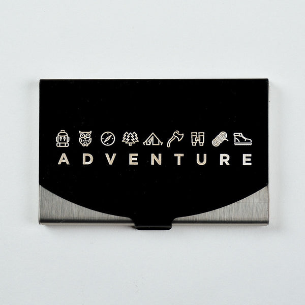 Adventure - Engraved Card Holder