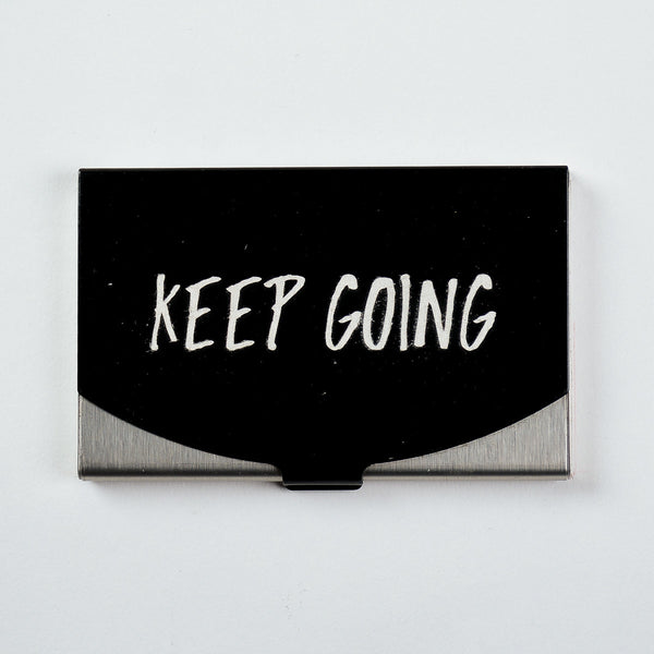 Keep going - Engraved Card Holder